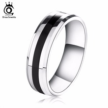 ORSA JEWELS New Arrival 316L Stainless Steel Couple Ring Fashion Design Ring for Men and Women Popular Ring Free Shipping OTR03(China)