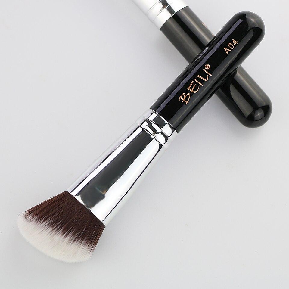 BEILI 1Pc Kabuki Soft Dense Grey Synthetic Hair Powder Foundation Blusher Contour Makeup Brushes 13