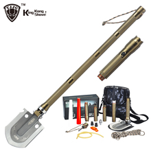 Survival Shovel Snow with Flashlight Folding Camping Shovels Spade Emergency Garden Hiking Outdoor Tactical Car Tool Gift