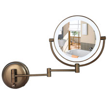 Antique Most HD glass Bathroom 1X 3X Magnification 8-Inch Two-Sided Swivel Wall Mount Mirror Cosmetic mirror,Folding