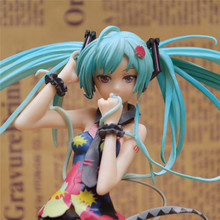 21cm Action Hatsune Miku Figure toys Commercial ver Wholesale - retail figma anime action toy figure Racing MIKU model