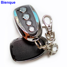 Wireless Retractable Garage Door Remote Control 4 Channels 433Mhz Gate Remote Copy Cloning Door Alarm Blue LED for Car Keychain(China)