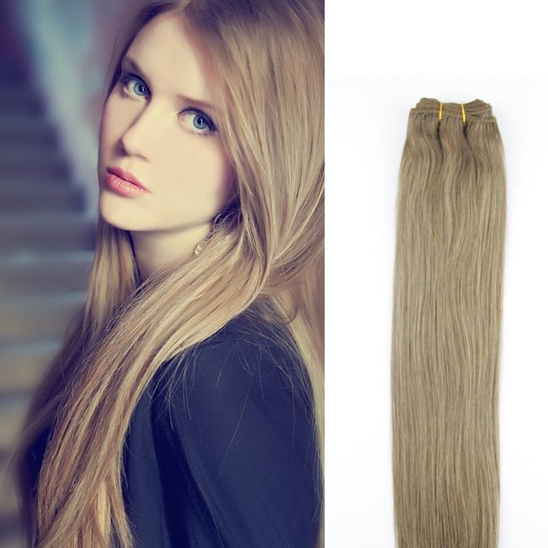 7A Virgin Human Hair Weave Extensions 16-26 100G Bundles Light Brown #8 Straight Brazilian Virgin Hair Extensons Weft Weaving<br><br>Aliexpress