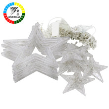 Coversage Led Fairy Star String Lights Wedding Curtain Holiday Decorative Christmas Tree Decoration Garden Lucine Decorative