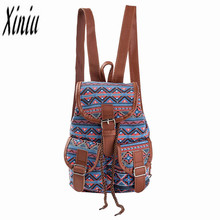 Women National Wind Printing Drawstring Backpacks Ladies Casual Girls Shopping Backpack Female LeisureTravel La Mochila Saco