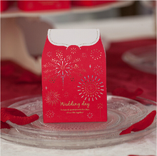 100 pcs Perfect celebration love bloom wedding candy box decoracion boda favor and gift box for guest