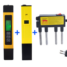 Digital TDS Meter Tester Filter Water Quality Purity tester+PH Meter/Tester 0-14 Pocket Pen Aquarium +water electrolysis coming(China)