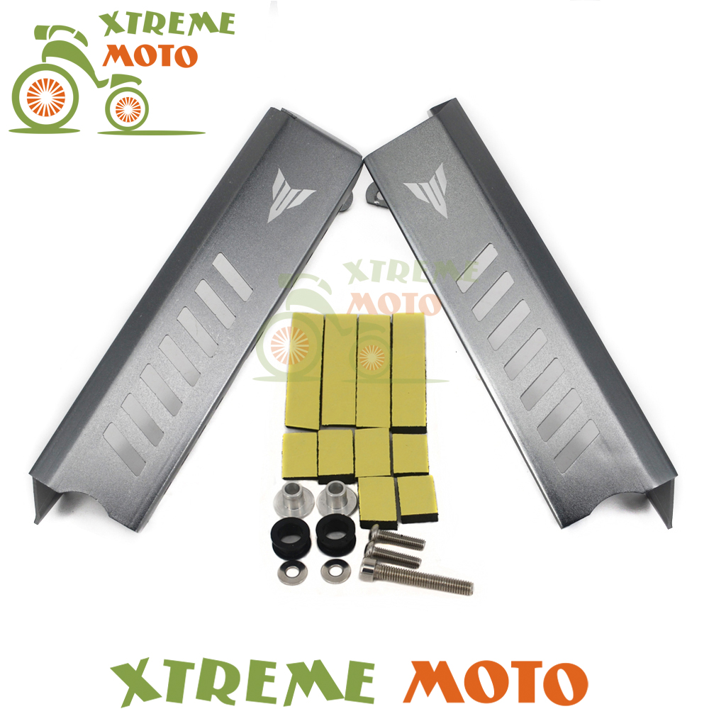 Titanium Motorcycle Radiator Grille Guard Protector Side Covers Protector Set For MT09 FZ09 MT-09 FZ-09 14 15 16<br>