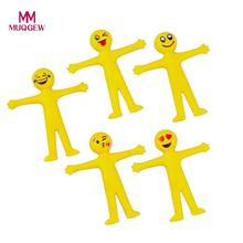 MUQGEW 5PC Novelty Emoji Emoticon Stretch Toys Decompression Squeeze Stress Relief toys Fashion Anti-stress Adult Novelty Toys(China)