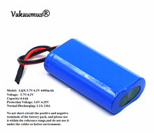 3.7V Battery Pack 4400mAh 18650 Battery 4.4Ah Rechargeable Batteries For Charger/Loudspeakers/Robot/Headlights/Searchlight/LED