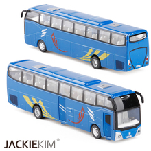 High simulation city bus 1:32 alloy car model metal diecasts toy vehicles with pull back flashing musical kids toy free shipping(China)