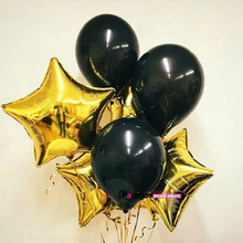 Buy 6pcs/lot 18 inch Gold Star 12 inch Pearl Black Latex Foil Balloons Birthday Wedding Marrige Party Decor helium inflatable balls for $1.62 in AliExpress store