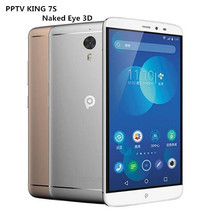 Original PPTV King 7S 4G LTE Mobile Phones 6.0 Inch Smartphone IPS 2.5D 2K Helio X10 Octa Core Android 5.1 3D King 7 Cellphone