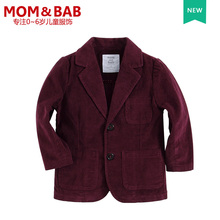 Boys Blazers Kids Suit Jacket Fashion Burgundy Corduroy formal wedding suits boys clothes kids costume winter coat(China)