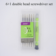 6 in 1 double head multifunction screwdriver set 1.5MM/0.8MM/2.0MM/T2/T4/T5/T6 for repairing Mobile phone and electronic product