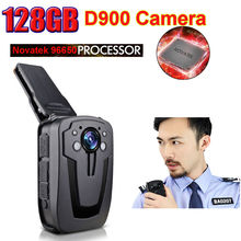 Free Shipping!128GB D900 NTK96650 Full HD 1080P Body Wore Video Police Camera Recorder DVR Night Vision Camera(China)