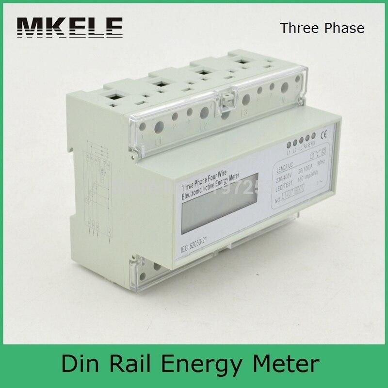 New Arrivals Din Rail MK-LEM021JC Energy Power Watt Meter Box Three Phase Analog Digital Display China <br>