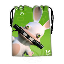 New arrive Custom rayman raving rabbids #3 drawstring bags for mobile phone tablet PC packaging Gift Bags18X22cm SQ00715-@H0324(China)