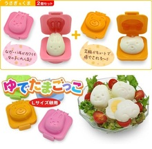Cute 3D Rabbite Bear Shape Boilded Egg Mould Baby Sushi Rice Mold Cutter Bento DIY Maker Cake Chocolate Tools 0121