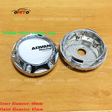 4pcs silvery chrome base 65mm Advan Racing Japan Made Car Wheel Center Centre Hub Cap Auto Styling Emblem Auto Accessories(China)