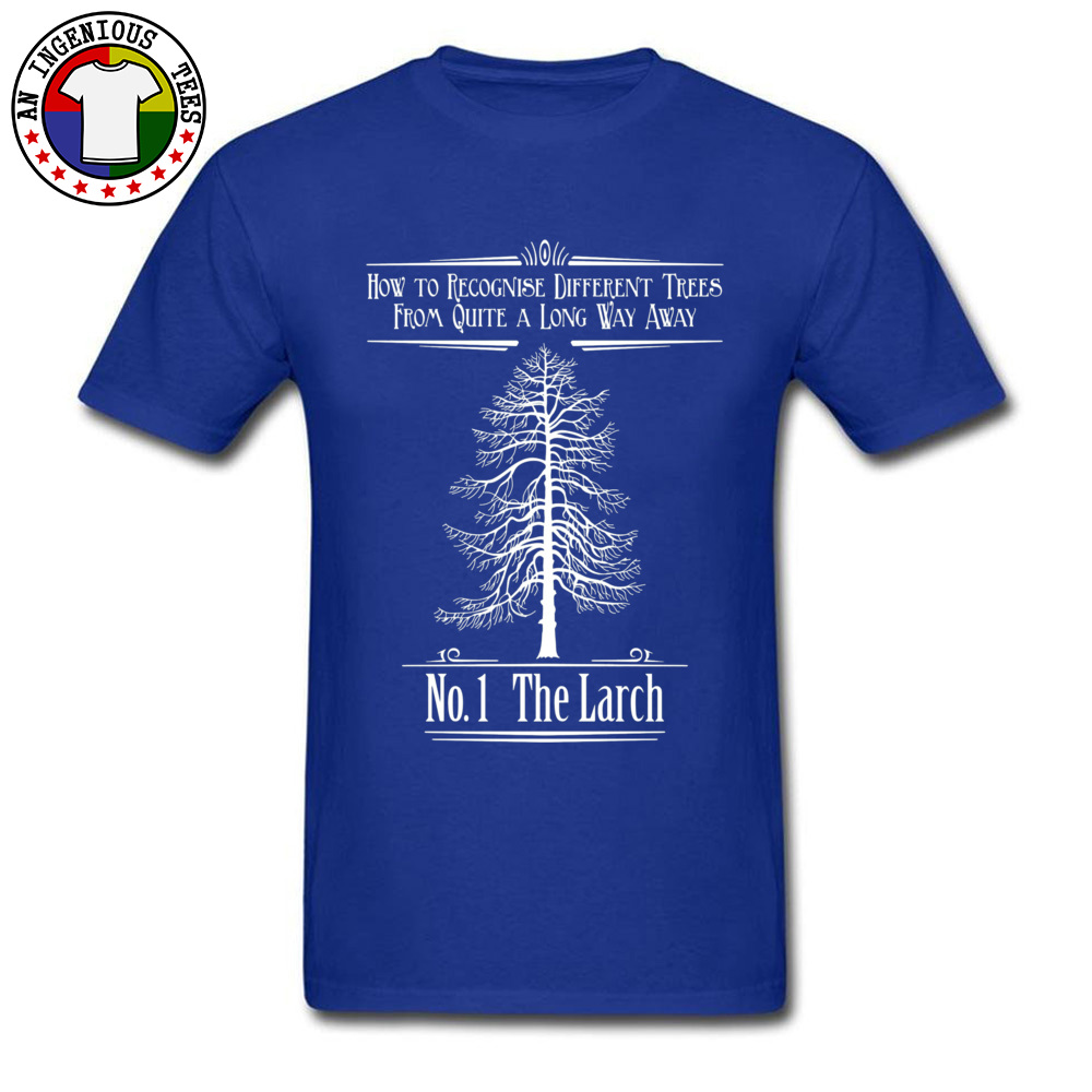 Tops T Shirt No. 1 The Larch 3301 T Shirts Autumn Funky Customized Short Sleeve 100% Cotton O-Neck Men T-Shirt Customized No. 1 The Larch 3301 blue