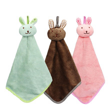 200pcs Cartoon Rabbit Microfiber Towel Dry Hands Cloth dishcloth wholesale Bowel Oil cleaning accessories dish Kitchen ZA0475
