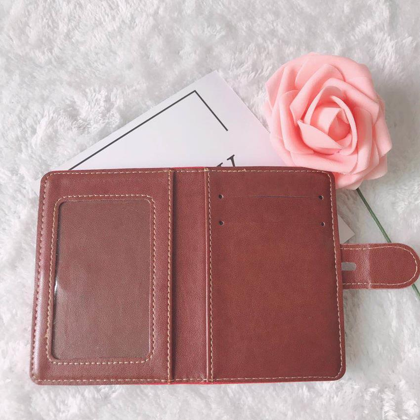 Vintage With Pink Red Flowers And Leaves Blocking Print Passport Holder Cover Case Travel Luggage Passport Wallet Card Holder Made With Leather For Men Women Kids Family