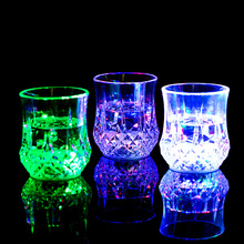 2016 New Hot Sale LED Flash Light Whisky Shot Drink Glass Cup flashing Beer Bar Party Wedding Club wedding decoration Gift(China)