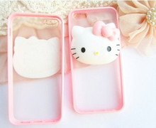 Hello Kitty Case For Coque iPhone 4 4s 5 5s se 5c 6 6s Plus 7 Plus Cases Cute TPU Silicone Edge Plastic Back Funda Capinha(China)