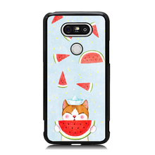 Animal Pet Cat Watermelon Coque Accessories For LG G6 Case Soft Rubber & Hard Plastic Printing Custom Phone Cover for LG G5
