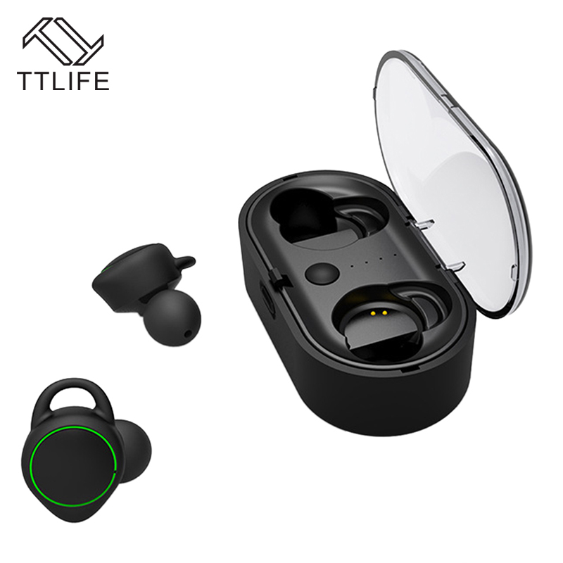 TTLIFE Mini Wireless Bluetooth Earbud New TWS Sport Handfree Earphone with Charging box Headphone with Mic For Phones Xiaomi<br>