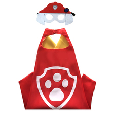 10pcs/lot PAW - Cape and Mask Set Patrol Costume kids birthday party favor Halloween kids cosplay dog paw cape 1 pc