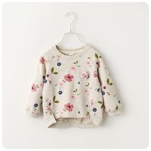 2017 toddler Girls jumper spring Autumn Cartoon Sweaters Children Knitted Pullover Warm Outerwear Baby kids cute floral Sweater
