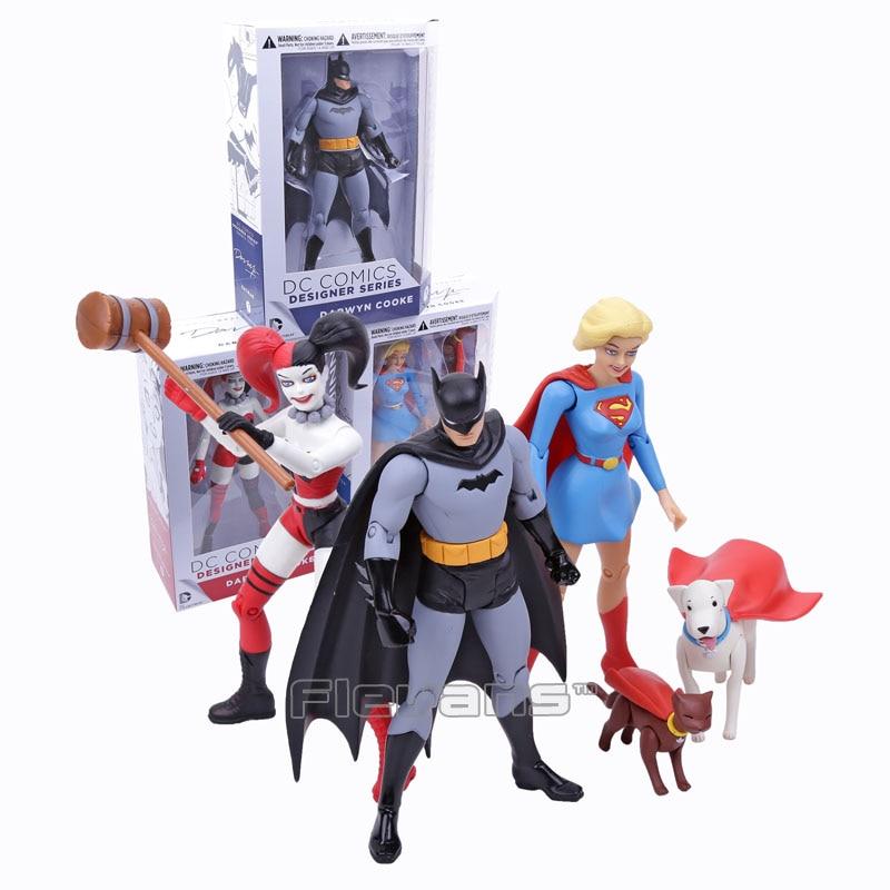DC COMICS Designer Series Darwyn Cooke Batman / Supergirl / Harley Quinn PVC Action Figure Collectible Model Toy 7 18cm<br><br>Aliexpress