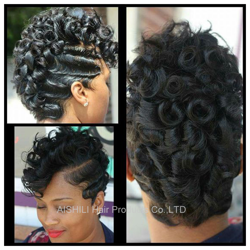 Newest Sexy Short  Curly Hair Wigs for black women Afro kinky curly wigs Pixie cut Hair African American synthetic hair wig<br><br>Aliexpress