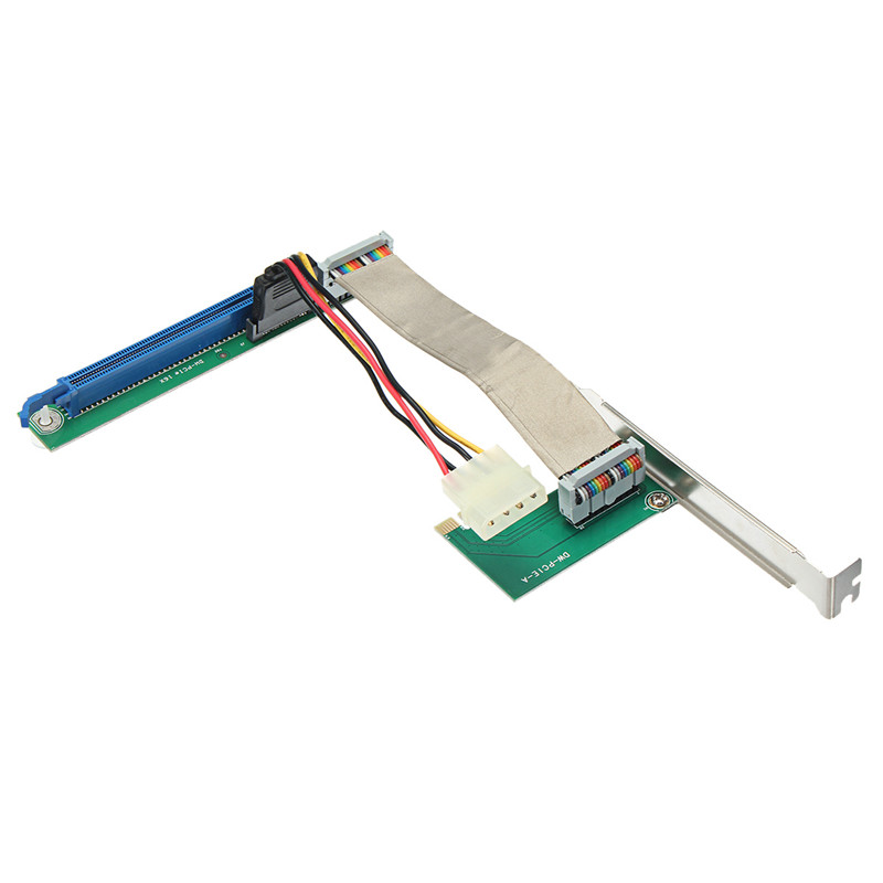 NEW 6pcs PCI-E 1X to 16X Extender Riser Card Adapter PCI Express 16X Interface Graphics Card Slot Adapter Power Cable For BTC<br>