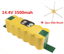 3500mAh High Quality New Battery Pack for iRobot Roomba 500 510,530,535,540,550,560,570,580 Battery Robotics+2pcs Side Brushes