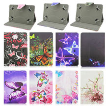 "Butterfly PU Leather Stand Cover Case Universal 10 inch Tablet For Acer Aspire One 10 Z3735F 10.1"" Inch+Center Film+pen KF492A"