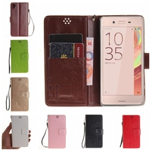 For SONY Xperia X XA XP Performance soft pu leather phone case 3D Embossed Couple Dandelion back cover Flip Stand Wallet style