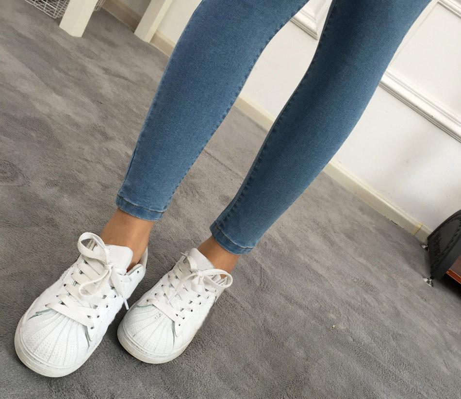 BIVIGAOS Basic Skinny Womens Jeans Ankle Pencil Pants Slim Elastic Denim Pants Jean Leggings Female Cotton Jeggings Jeans Women 12