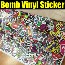 Bomb Vinyl Sticker on Car DIY Graffiti Sticker Bomb Wrap Car Stickers Motorcycle Accessories full car decals Car Styling