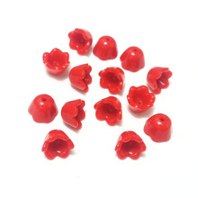 red bright acrylic beads end suede fiber fringe caps tassel earring necklace cord Connector equipment kit headband bowknot craft