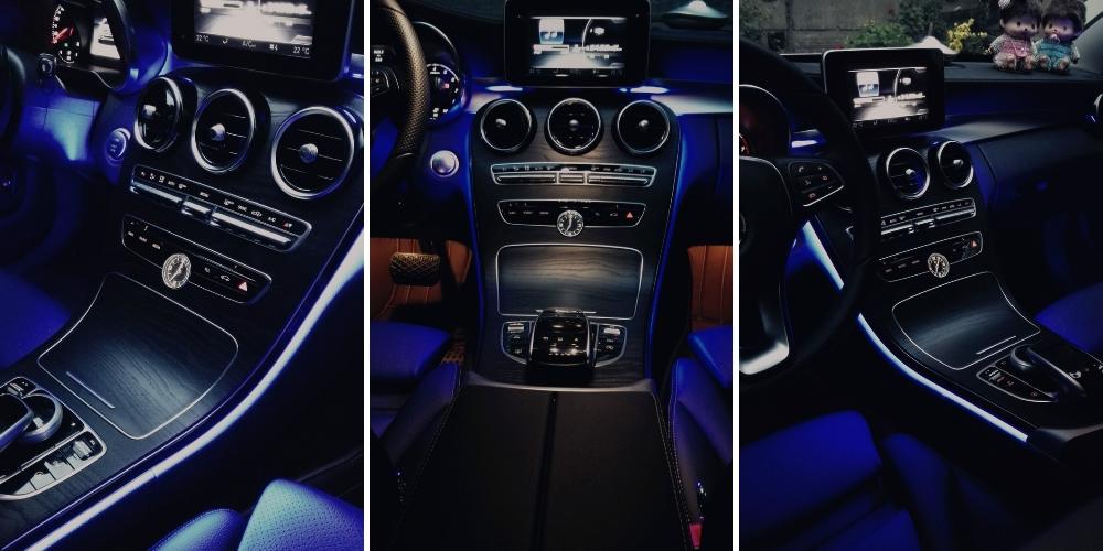 For Mercedes Benz C MB W205 GLC 2014~2017 Dashboard NOVOVISU Interior OEM Original Factory Atmosphere advanced Ambient Light 3 in 1