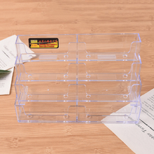 Office Desktop Business Card Holder 8 Pockets Stand Clear Transparent Acrylic Counter Display Stand Office Home Supplies(China)