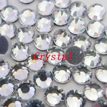 Clear HotFix Rhinestones SS6 SS10 SS16 SS20 SS30 SS34 SS40 DMC Flat Back glass crystals strass stones for DIY(China)
