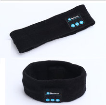 New Smart Headband Bluetooth Music Sweatband Wireless Sports Earphone Supporting Hands Free Phone Call Soft Hairband