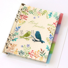 New PP Notebook Planner Accessories Flower Bird Dividers A5 A6 Inner Page 5pcs Per Set Filler Papers Match Filofax
