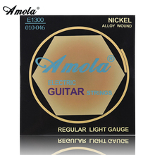 Amola Electric Guitar Strings set 010 009 Nickel Alloy Regular Light Gauge 009-042 010-046 Electric Guitar Strings 6strings/set