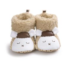 Winter Baby Shoes Girls Warm Baby Comfort Toddler Girl Shoes Infant Girl Bear Woolen Boots Baby Shoes