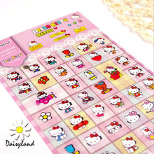 1 Sheet Kawaii Hello Kitty Sticker Notebook Diary Phone DIY Decor Stick Label School Supply Student Stationery(China)